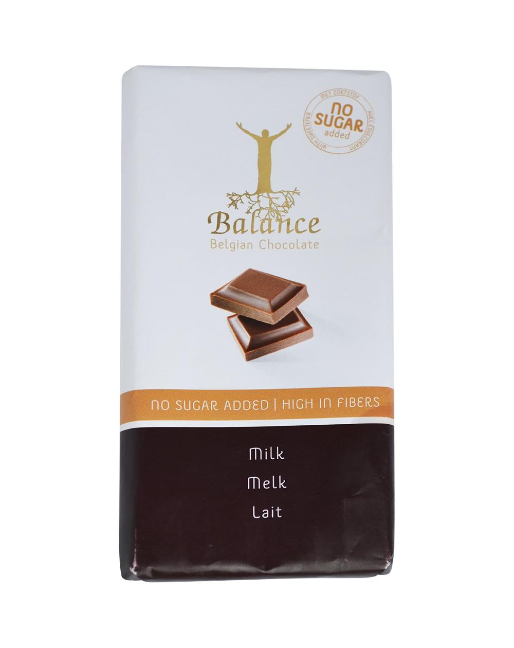 Tablette de chocolat au lait belge sans sucres ajoutés édulcorés au maltitol