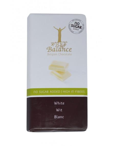 Tablette de chocolat blanc belge sans sucres ajoutés édulcorés au maltitol