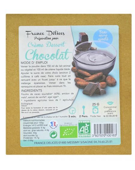 Préparation pour flan au chocolat sans sucre et sans gluten