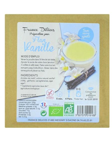 Préparation flan vanille sans sucre et sans gluten