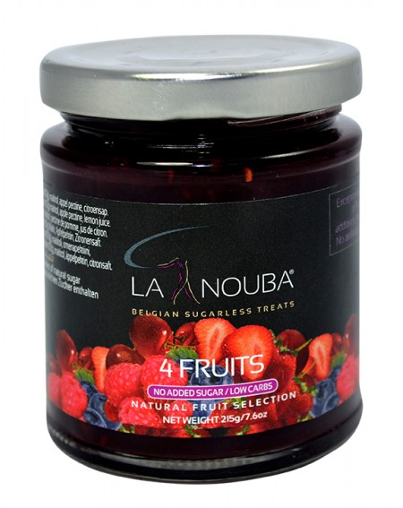 Confiture aux 4 fruits sans sucre